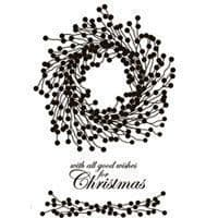 Berry Wreath Clear Woodware Stamp (JGS468)
